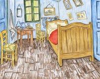 Camera Da Letto In Arles 1888 Da Vincent Van Gogh Illustrazione di ...
