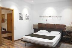 Camera da letto bianca Fotografia Stock Libera da Diritti
