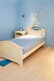 Camera da letto blu Fotografia Stock Libera da Diritti