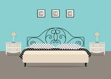 Camere Da Letto Blu : Interno camera da letto stile minimal nella combinazione di colori