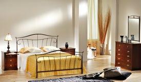 Camera da letto classica Fotografia Stock