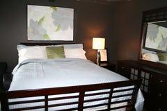 Camera da letto con gli ultimi colori della decorazione Fotografia Stock