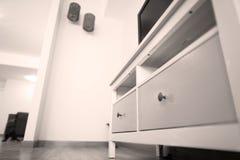 Camera da letto con il grande guardaroba Fotografia Stock