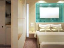 Camera da letto costosa con spogliatoio Fotografie Stock
