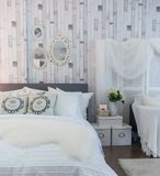 Camera da letto d'annata Fotografia Stock
