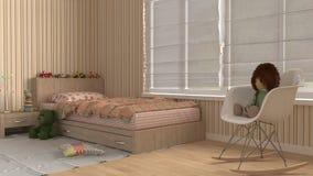 Camera da letto dei bambini, interior design Immagine Stock Libera da Diritti