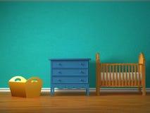 Camera da letto del bambino Fotografie Stock Libere da Diritti
