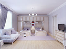 Camera da letto del bambino per due illustrazione vettoriale