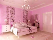 Camera da letto del Teengirl Fotografie Stock
