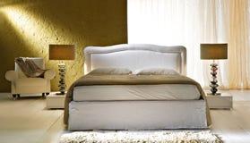 Camera da letto dell'oro Immagini Stock Libere da Diritti