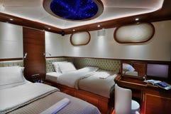 Camera da letto della barca a vela Fotografia Stock
