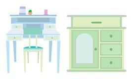 Camera da letto della mobilia illustrazione vettoriale