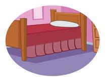 Camera da letto della ragazza illustrazione di stock