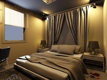 camera da letto della rappresentazione 3d Immagini Stock Libere da Diritti