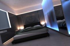 camera da letto della rappresentazione 3d Fotografie Stock