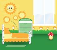 Camera da letto della scuola materna Immagine Stock