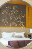 Camera da letto della serie di lusso in hotel a Hong Kong Fotografie Stock