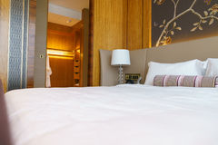 Camera da letto della serie di lusso in hotel a Hong Kong Immagine Stock Libera da Diritti