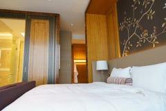 Camera da letto della serie di lusso in hotel a Hong Kong Fotografia Stock Libera da Diritti