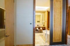 Camera da letto della serie di lusso in hotel a Hong Kong Fotografie Stock Libere da Diritti