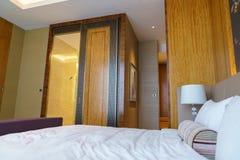 Camera da letto della serie di lusso in hotel a Hong Kong Immagini Stock