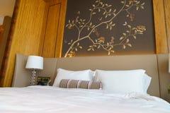 Camera da letto della serie di lusso in hotel a Hong Kong Fotografia Stock