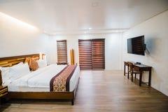 Camera da letto della villa fotografia stock libera da diritti