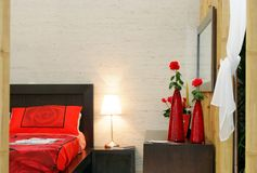 Camera da letto di bambù Fotografia Stock