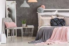 Camera da letto di colore pastello della donna Fotografia Stock Libera da Diritti