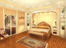 Camera da letto di interior design Camera privata progetto Immagine Stock