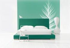 Camera da letto di inverno Fotografia Stock Libera da Diritti