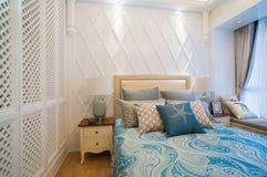Camera da letto di lusso Fotografia Stock