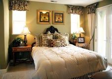 Camera da letto di lusso Immagine Stock Libera da Diritti