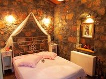 Camera da letto di lusso della Camera Fotografia Stock