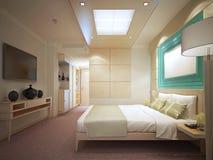 Camera da letto di lusso in hotel Fotografia Stock