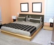 Camera da letto di Moderm Fotografie Stock Libere da Diritti