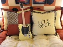 Camera da letto di musica Immagini Stock Libere da Diritti