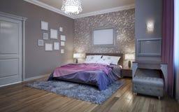 Camera da letto di ospiti in casa privata Fotografia Stock Libera da Diritti