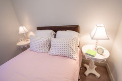 Camera da letto di rosa del ` s della ragazza Immagini Stock Libere da Diritti