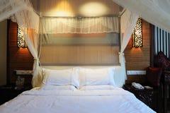 Camera da letto di stile cinese Fotografia Stock