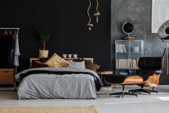 Camera da letto di stile di Eco immagini stock libere da diritti