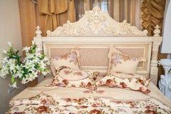 Camera da letto di stile di rococò Immagine Stock