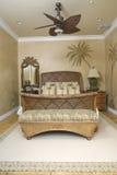 Camera da letto di vimini tropicale 2 Immagini Stock