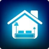 Camera da letto domestica Immagini Stock