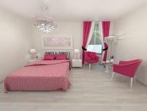 Camera da letto elegante Fotografie Stock