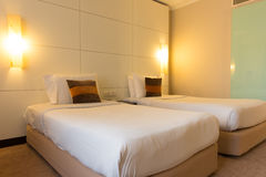 Camera da letto interna Immagine Stock