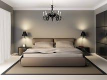 Camera da letto interna moderna Illustrazione di Stock