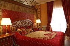 Camera da letto magnifica Immagini Stock