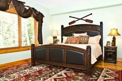 Camera da letto moderna/decorazione rustica immagine stock libera da diritti