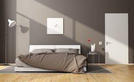 Camera da letto moderna del Brown illustrazione di stock